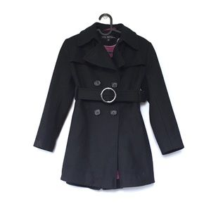 Via Spiga wool double breasted belted pea coat